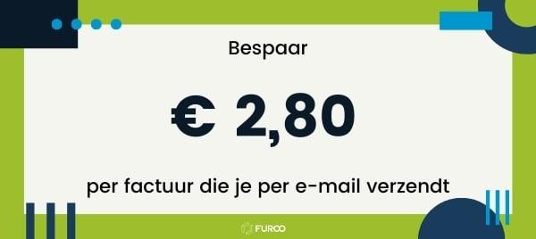 besparing factuur per email