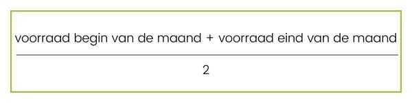 formule voorraadwaarde korte periode